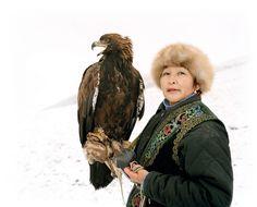 Clara Isabekov, the only female golden Eagle Hunter in Kazakhstan