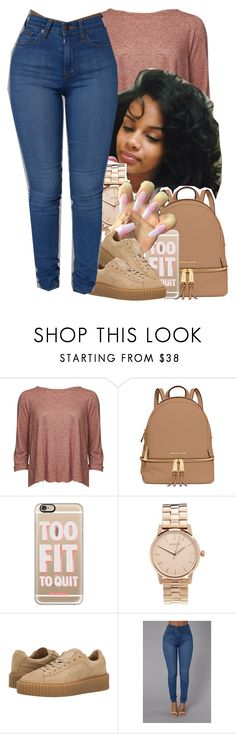 """""""imma pretty girl"""" by jchristina ❤ liked on Polyvore featuring Levi's Made & Crafted, MICHAEL Michael Kors, Casetify, Nixon and Puma"""