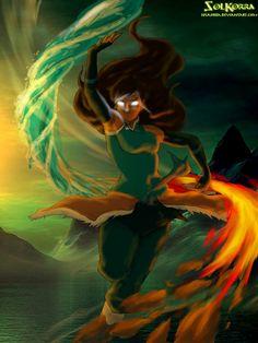 Korra Avatar State by SolKorra