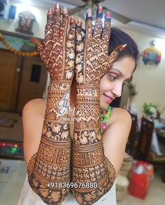 Elegant Full Hand Bridal Mehandi Designs For Beautiful Brides - Mehandi Rajasthani Mehndi Designs, Arabic Bridal Mehndi Designs, Engagement Mehndi Designs, Wedding Henna Designs, Mehndi Designs 2018, Stylish Mehndi Designs, Dulhan Mehndi Designs, Beautiful Mehndi Design, Mehndi Art