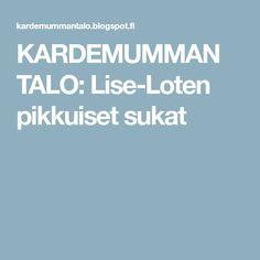 KARDEMUMMAN TALO: Lise-Loten pikkuiset sukat Drops Karisma, Drops Design, Ravelry, Knit Crochet, Inspiration, Biblical Inspiration, Ganchillo, Inspirational, Inhalation