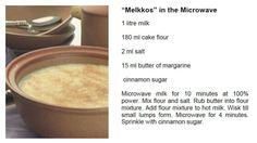 Mikrogolf melkkos Microwave Recipes, Baking Recipes, Cake Recipes, Good Food, Yummy Food, South African Recipes, Cake Flour, Something Sweet, Winter Food