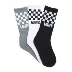 The Boys Checkerboard Crew Socks are made with 66% cotton, 31% nylon, and 3% elastane and feature the iconic Vans checkerboard print. Vans Socks, Socks Men, Adidas Socks, T Shirt Designs, Crazy Socks, Novelty Socks, Happy Socks, Fashion Socks, Sock Shoes
