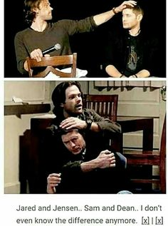 The difference, you sweet child, is Jared and Jensen are happy most of the time