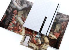 Cartelline istituzionali per il Centro Internazionale di Arte e di Cultura di Palazzo Te di Mantova.
