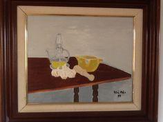 All i oli sobre la taula , pintura al oli sobre tela