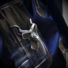 """Купить Набор """"Антилопа (коза)"""" с закусочной вилочкой. Подарок охотнику. - подарок на 23 февраля, рюмка"""