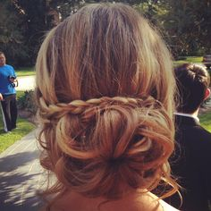 Messy bun I did for Homecoming