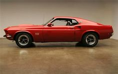 Mustang red muscle car