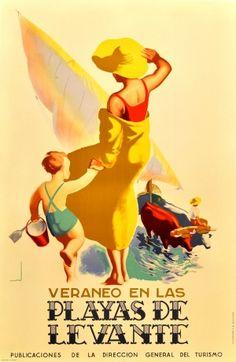 Original Vintage Posters -> Travel Posters -> Playas de Levante - AntikBar
