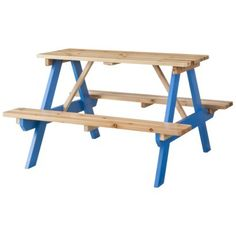 Room Essentials™ Kids Wood Patio Picnic Table - Blue