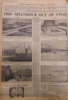 An Accrington Observer article about the transformation of Broadway, 1961.