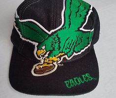 Philadelphia Eagles Vintage Snapback The Game Big Logo Hat NFL Rare Cap Starter