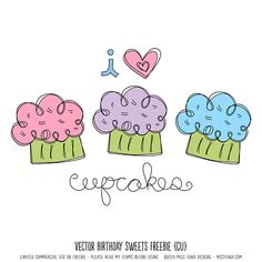 Vector Birthday Sweets Freebie-Lots of free images