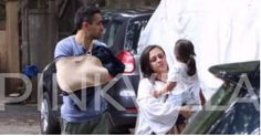 PICS: Imran Khan spotted in the city with wife Avantika and daughter Imara