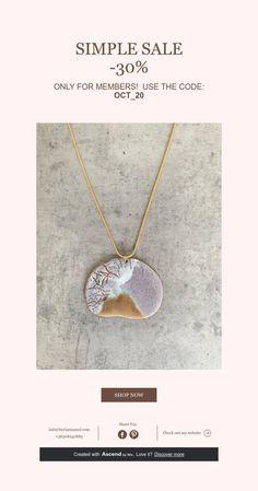 SIMPLE SALE -30% 30th, Handmade Jewelry, Enamel, Diamond, Simple, Vitreous Enamel, Handmade Jewellery, Jewellery Making, Enamels
