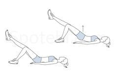 The single leg bridge is a great toning exercise for your abs and thighs and it also helps to lift and sculpt the buttocks. This exercise strengthens the core as well as the muscles of your back and helps to stabilize your spine. http://www.spotebi.com/exercise-guide/single-leg-bridge/