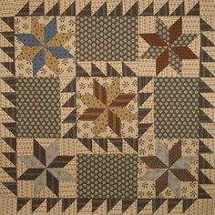 Like the lemoyne star with half square triangles! Jo fabrics !