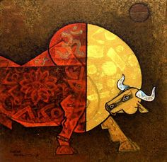 Celebration 20 by Dinkar Jadhav | Acrylic on Canvas |  Size (W x H): 18 x 18 inch