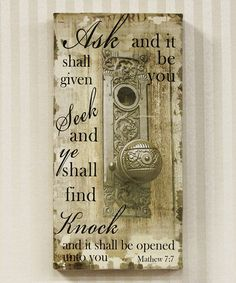 Another great find on #zulily! 'Knock' Door Knob Canvas by Adams & Co. #zulilyfinds