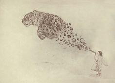 Bubbles the Snow Leopard by Darel Seow