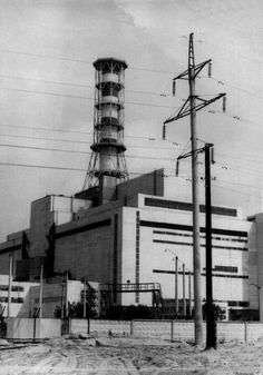 The Chernobyl nuclear power station, site of the world's worst nuclear disaster, before it exploded, 1983