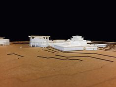 printed architecture Model of Panmunjom Village within DMZ between North & South Korea. Joint Security Area, Longitudinal Section, Freedom House, Wooden Columns, Korean Peninsula, Restaurant Marketing, Architecture Models, North South, Urban Planning