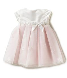 b69601b0d35b Joan Calabrese Baby Girls 6-24 Months Satin Bow Pleated Tulle A-Line Dress  | Dillards