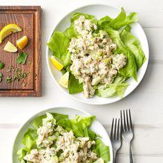 Tarragon Tuna Salad Exps Sdfm19 27561 E10 19 2b 3 Healthy Tuna Recipes, Canned Tuna Recipes, Healthy Tuna Salad, Seafood Recipes, Fish Recipes, Paleo Recipes, Avocado Tuna Salad, Nicoise Salad, Gastronomia