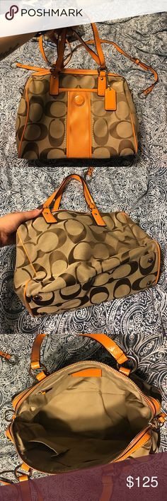 Coach Purse this purse is in excellent shape. I've used it only once. Still looks brand new. Coach Bags Shoulder Bags
