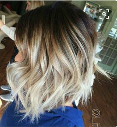 Short hair balayage, Short ombre hair, Hair styles Hair, Hair styles, Hair cuts - 51 Trendy Bob Haircuts to Inspire Your Next Cut Page 2 of 5 StayGlam - Ombré Hair, New Hair, Curly Hair, Short Hair Cuts, Short Hair Styles, Pixie Cuts, Bob Cuts, Icy Blonde, Blonde With Dark Roots