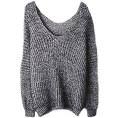 Fluffy V-neck Loose Mohair Knit Sweater ($34) ❤ liked on Polyvore featuring tops, sweaters, shirts, jumpers, shirt sweater, loose shirts, v neck sweater, v neck shirts and loose knit sweater
