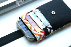 iPhone wallet / iPhone Sleeve / iPhone Case / iPhone 4s / iPhone 5 - Chevron