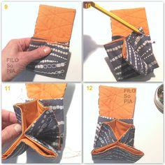 Questa volta ho trovato il mio metodo ideale per cucire l' astuccio a fisarmonica, grazie ai tutorial di due blogger giap...