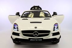 2016 White Mercedes SLS AMG -Bonus Built in Touch Screen TV-Kids Ride on Car- MP4 w/ Color LCD- LED lights- Battery Powered Wheels- Parental Remote Control