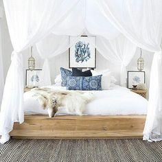 """246 curtidas, 2 comentários - Decora Maricota (@decoramaricota) no Instagram: """"Dia para não sair da cama...ainda mais uma cama como essa!!! #home #inspiração #inspiration #ideias…"""""""