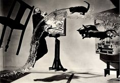Dali Atomicus by Halsman - Before modern, computerized techniques in image manipulation, Philippe Halsman shot this photograph of Salvador Dali suspended in mid-air.