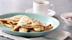 Chocolate Hazelnut Banana Crepes Recipe