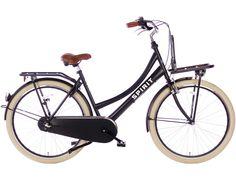 Spirit Mona N3 Mat-Zwart Transport Moederfiets | € 349,- | City-Bikes.nl