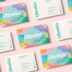 Ann Davenport Design - Ultrella - World Brand Design Society / Ultrella is a fresh and fun range of powerful, natural body care products. The brief was to create a brand with a playful and positive attitude, and p. Corporate Design, Brand Identity Design, Graphic Design Branding, Logo Design, Brand Design, Flyer Design, Self Branding, Business Branding, Business Card Design