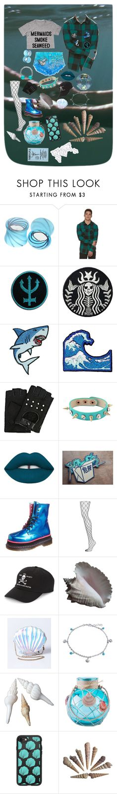 """~For the contest~"" by xxsnowfoxx ❤ liked on Polyvore featuring Hot Topic, Urban Pipeline, Karl Lagerfeld, Lime Crime, Buffalo, Topshop, 032C, Bling Jewelry and Casetify"
