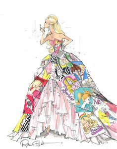 I love this man's Barbie illustrations! They're in a classic fashion illustration style. I've seen them framed and in a calendar as well.