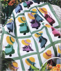 Crochet Sunbonnet Sue Afghan Pattern PDF par PatternsforHome