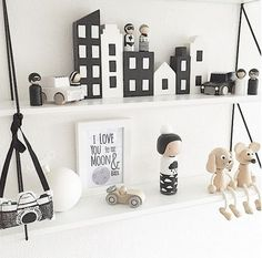 Black and White shelfie for Monochrome Monday Love that camera Baby Bedroom, Baby Boy Rooms, Kids Bedroom, Bedroom Loft, Baby Decor, Kids Decor, Monochrome Nursery, Kids Room Design, Nursery Inspiration