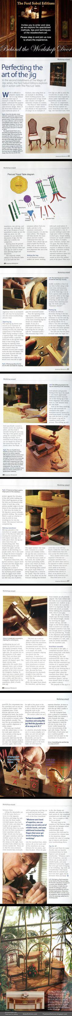 Watch Ferd Sobol master miniature furniture builder create his famous Piecrust Table. Visit the website SobolEditions.com and the BLOG thesoboleditions.blogspot.com