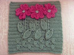 ergahandmade: Crochet Motif With Flowers + Free Pattern