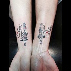 Cute Wrist Tattoos for Sisters