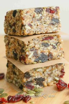 Fuel to Go Homemade Protein Bars - loaded with chia hemp pumpkin and sunflower seeds together with dried fruit. Fuel to Go Homemade Protein Bars - loaded with chia hemp pumpkin and sunflower seeds together with dried fruit. Paleo Protein Bars, Protein Bar Recipes, Healthy Bars, Healthy Treats, Snack Recipes, Healthy Eating, Clean Eating, Stay Healthy, Paleo Recipes