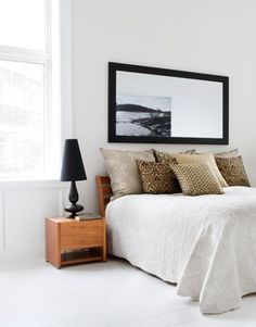 Bedroom. Clean and chic! Two of my favorite things!