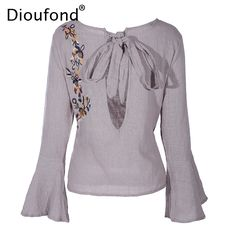 Dioufond Linen Embroidery Blouse Long Sleeve 2017 Women Shirts Blouses Linen White Black Blouse O-Neck Korean Fashion Clothing #Silk blouses http://www.ku-ki-shop.com/shop/silk-blouses/dioufond-linen-embroidery-blouse-long-sleeve-2017-women-shirts-blouses-linen-white-black-blouse-o-neck-korean-fashion-clothing/